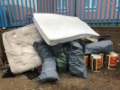 2 large mattresses and industrial waste