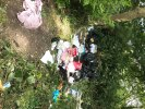 Fly tipping clothes and household items