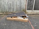 Flytipping of large TV box and some other rubbish