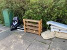 Fly tipping by telephone exchange